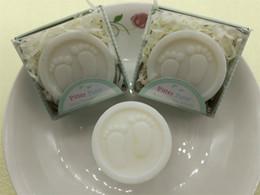 Presentes do banho de chuveiro de bebê on-line-Sabonetes de Sabão de Banho de chuveiro Do Bebê Mini Pés Sabonetes Atividade Pequeno Presente Romântico Planta Rosa Fragrância Banho Portátil Multi Espuma Venda Quente 1 2sqE1