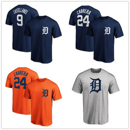 2019 camisas de impressão de tigre Detroit 9 Nicholas Castellanos Tigres T-shirt 24 Miguel Cabrera camisa De Beisebol Mens graphic tees Fãs Tops impresso Logos Mangas Curtas camisas de impressão de tigre barato
