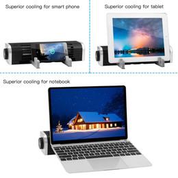 2019 ventiladores de flujo LESHP Laptop Cooling Fan Pad Stand Ventiladores USB Powered Cross Flow Notebook Cooler Cooling Computer Tablet Soporte para teléfono rebajas ventiladores de flujo