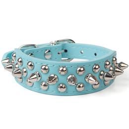 piccolo colletto di cane di cuoio spiked Sconti Collare regolabile regolabile con collare per cani in ecopelle con borchie in pelle sintetica