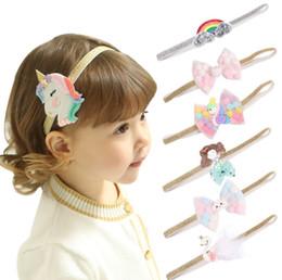 Cavalo de cabeça on-line-Bebê meninas unicórnio headband novo design nuvens rainbow horse Sereia bebês hairband infantil criança fotografia acessórios de cabelo boutiques