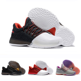 james shoes white black Promo Codes - With Box Classic James Harden Vol.1 Black History Month White Orange Gold Mens Basketball Shoes Harden 1s Low trainer sports Sneakers 40-46