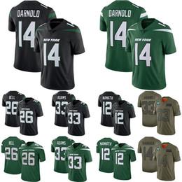 2020 camisa de sino 14 darnold de Nova Men 33 Adams 44darnald 26 sino 33 Adams camisas de futebol 12 mamath camisa de sino barato