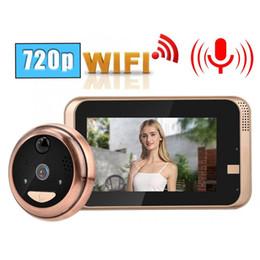 2019 controle remoto de acesso remoto 4.3in 720 P HD Sem Fio WI-FI Vídeo Campainha Cat Eye Camera Kit Detecção de Movimento PIR hot sale-Z2
