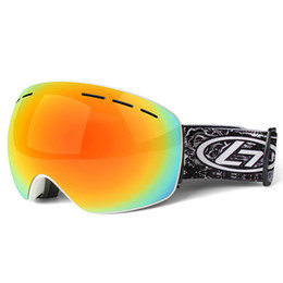 c6146911cc9 Ski Goggles Double Layers UV400 Anti-fog Big Ski Mask Glasses Skiing Men  Women Snow Snowboard Goggles