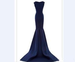 Abiti da sera di scollo a forma di sirena online-2019 New Sexy Golden Globe Awards Abito da sera Scollo quadrato Sirena Katherine Heigl Red Carpet Dress Celebrity Dresses Custom Made