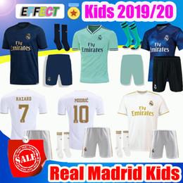 camiseta de fútbol para jóvenes Rebajas Kit de niños del Real Madrid HAZARD Soccer Jerseys 2019 Camisetas de fútbol 19/20 Inicio Visitante 3ra 4a Boy Boy Juvenil Modric 2020 SERGIO RAMOS BALE Camisetas de fútbol