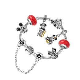 79aa938e7 2019 new anime cartoon children's bracelet suitable for Pandora style DIY  children's alloy beads beaded bracelet jewelry