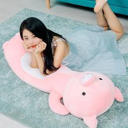 2019 bambole di massaggio 135cm Cartoon Pig / Coniglio / cane giocattoli di peluche del fumetto farcito Cuscino cuscino Bambini bei ragazzi regalo di compleanno del bambino