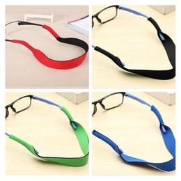 2020 cordas para óculos 33.5 cm Espetáculo Óculos 4 Cores Anti Slip Strap Stretchy Pescoço Cord Óculos de Esportes Ao Ar Livre Corda Titular Corda Sunglass Banda cordas para óculos barato