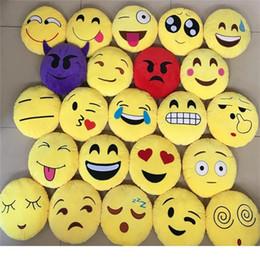 2019 materiais montessori atacado Multi estilos 35 cm travesseiro de pelúcia bonito Emoji Travesseiros Smiley Dos Desenhos Animados cocô Almofada cocô Travesseiros Amarelo Rodada Recheado de Pelúcia Brinquedo de Pelúcia D0583