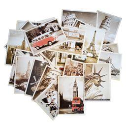 Vintage postkarten online-6packs / lot Weinlese-Art-Postkarte Plakat Zeichnung Gruß Postkarten Set Geschenk Thema Classic Card Großhandel