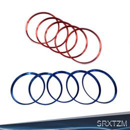 Aire acondicionado cubre online-venta al por mayor 5X rojo, azul, aire acondicionado, aire acondicionado, ajuste de ventilación, salida del anillo, anillo de ajuste, círculo para Mercedes-Benz A / B / GLA / CLA 180 GLA200 GLA220