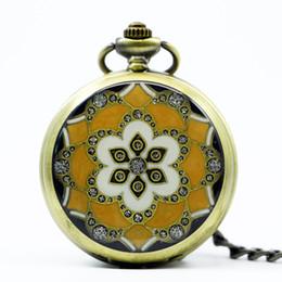 Peças de relógio de bolso on-line-6 peças Relógio de Bolso Do Vintage Esqueleto Mecânico Fob Assista Número Relógios Romanos Para Mulheres Dos Homens