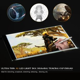 2019 tableta óptica A3 Tablero de luz LED Caja de dibujo Almohadilla de trazado Tracer Copyboard Tableta de gráficos Tablero de copiado para pintura de diamantes Tattoo Sketching tableta óptica baratos