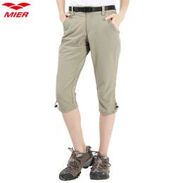 Pantalones capri de senderismo para mujer MIER Pantalones cortos, ligeros y de secado rápido con 5 bolsillos, resistentes al agua desde fabricantes