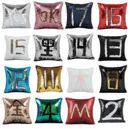 mermaid sequins pillow glamour cover Coupons - Double Sequin Pillow Case Cover Glamour Square Pillow Case Cushion Cover Car Home Sofa Decor Mermaid Bright Pillow Covers
