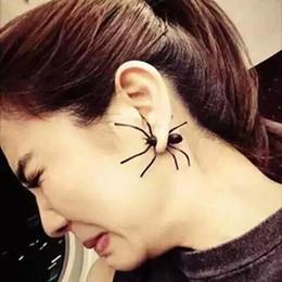 2019 orecchini neri di rodiato 1 spider nero orecchini uomini e donne personalità Halloween coppia tendenza orecchini in acciaio inox regalo