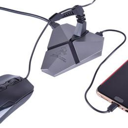 suporte para fio de rato Desconto Mouse Bungee Gaming em Hubs USB 2.0 Mause Bungee Cord Holder Clipe de Fio Gamer Hubs USB Backlight 2.0
