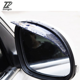 espelho opel Desconto Zd 1 pc espelho retrovisor do carro chuva capa de chuva para mitsubishi asx outlander lancer fiat 500 ducato assento leon mk2 acessórios