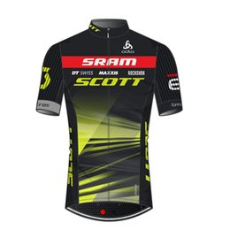 2019 Maillot à manches courtes SRAM SCOTT team couture top couture couture compétition vélo vêtements de vélo usure ? partir de fabricateur
