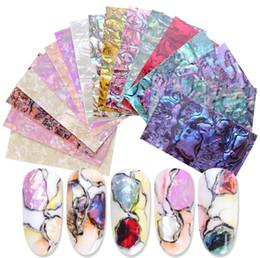 Salon Nail Art DIY M00071 için January3 Nail Art Sticker 14 Stiller 3D Doğrudan Shell Patch Nail Art Dekorasyon DIY nereden gözlük etiketleri tedarikçiler