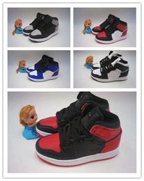 (caja) 2019 Nuevas zapatillas de baloncesto para niños de 1S, gorro de platino y bata de gimnasia, tapón rojo deportivo de medianoche azul marino, zapatillas deportivas desde fabricantes