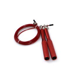 Alças de salto on-line-6 Cores Ajustáveis Corda de Pular 3 M Velocidade de Fio de Aço Pular Corda de Salto Crossfit MMA Caixa Gome Ginásio Equipamentos de Fitness (Punho de Metal)