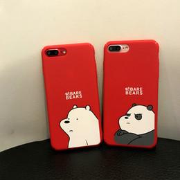2019 urso fino Casos de telefone do urso dos desenhos animados bem lixar sentir para iphone xs max pc all-inclusive celular rígido case para iphone 6 7 8 além de urso fino barato