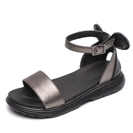 age shoes Coupons - ANCYMONEK Age 3T-14T baby girl sandal children sandals fashion kids shoes new arrival sapato infantil menina summer shoes kids