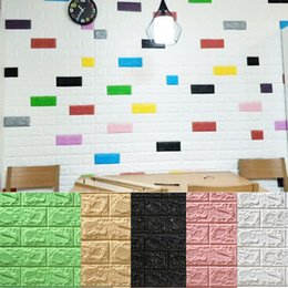 Новый стиль обои онлайн-Popular New Hot Sale Style PE Foam 3D Wallpaper DIY Wall Stickers Wall Decor Embossed Brick Stone Wallpaper Room House Poster