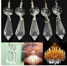 100MM Hexagram Large Glass Crystal Beads Chandelier Prisms Pendant Judaism Stone for jewelry making, necklaces, art projects