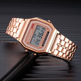 2019 assistir homens negros rosa dourada Relógio dos homens Criativo Relógios 2018 Top Marca de luxo LED Digital Relógio Homens Moda Black Rose de Ouro Saat hombre reloj assistir homens negros rosa dourada barato