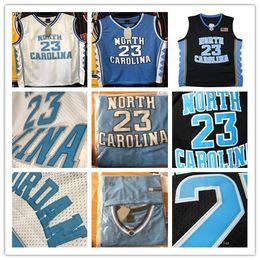2019 foto saltos Mais novo NCAA North Carolina Tar Heels Colégio MJ Jersey 23 Camisa Michael Jersey Atacado de Alta Qualidade Costurado PHYSICAL STOCK FOTOGRAFIA S-2XL foto saltos barato