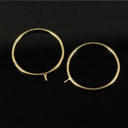 configuración de la joyería de oro 14k Rebajas Ajustes anillo de la perla de perlas anillo de oro 14K para los anillos de boda joyería muchacha de las mujeres de bricolaje anillo Accesorios de moda regalo de Navidad 1pcs / lot