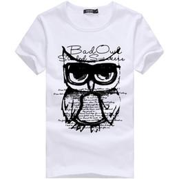 0a627981081 Camisetas de verano para hombre Tamaño grande Búho Impreso Diseñador  Camisetas Manga corta Moda delgada Tops Tees 2018 Ropa masculina XXXL DH095
