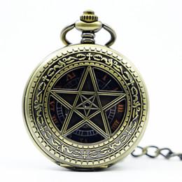 Assista a sorte on-line-Grandes Relógios Mecânicos Relógio de Bolso Do Vintage Relógios Lucky Star Wall Charts Colar Cadeia Para Homens Mulheres PJX1225