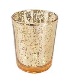 """2,7 """"H Mercury Glass Votive Teelichthalter für Geschenk-Hochzeiten, Partys und Home Decor Silber Gold Farbe von Fabrikanten"""