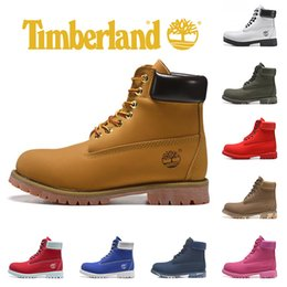 Cuero camo online-Timberland Brand Yellow Boots diseñador de lujo Botas para hombre Military Women Triple Black White Camo leather tobillo fashion sports sneaker 36-45