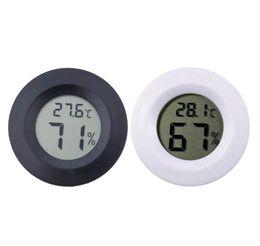 Mini refrigeradores online-Mini Redondo LCD Termómetro Digital Higrómetro Frigorífico Congelador Probador Humedad Medidor Detector Herramienta de Medición Casera VT0171