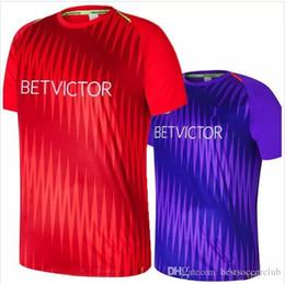 camisetas de fútbol de calidad tailandesa ee. Rebajas Mejor calidad Camiseta de portero de manga larga # 13 A.BECKER ALISSON M. SALAH LALLANA FIRMINO KEITA Camiseta de entrenamiento Camiseta de fútbol púrpura roja