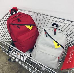 2019 weiße buchtasche Designer Rucksack Herrenrucksack Luxus Schultasche für Frauen Kleine Augen Neue Mode Flut Hip Hop 5 Farbe Verfügbar