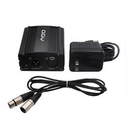 Xlr audio on-line-48 V Fonte de Alimentação Fantasma com Um Cabo de Áudio XLR e AC220V UE EUA REINO UNIDO Adaptador para Microfone Condensador Gravação de Música de Estúdio de Música