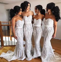 Vestido de textura on-line-Sereia Africano Da Dama de Honra Vestidos 2019 Textura projeto querido Plus Size sexy Evening Prom Vestido custom made barato Vestidos de Convidados Do Casamento