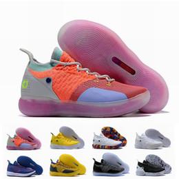 Sapatas da estrela de kevin durante on-line-Novo KD 11 EP Elite Basketball Shoes 11s Homens Multicolor Peach Jam Mens Doernbecher Sapatilhas Kevin Durant 11 EYBL All-Star BHM Sneakers