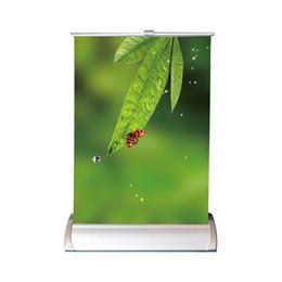 Contador de Exposição do Anúncio Top Contador A4 Desktop Mini Poster Stand com Caixa de Embalagem Branca 50 pcs Por Caixa Exterior (Apenas o Quadro) de