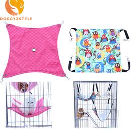 Jaulas de ratas online-Conejo perro mascota pequeña hamaca mercancías Rata Hamster Jaula gato Hamacas cama colgante los suministros jaula Accesorios