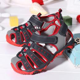 enfants sandales d'été garçons Promotion Toddler Sandals Enfants Enfants Chaussures Garçon Fermé Toe Plage D'été Sandales Chaussures Baskets Sandalia Infantil Bébé Garçon