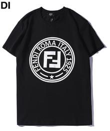 2 Farben Italien-Markenmann-T-Shirts FD-Briefdruck beiläufige Baumwollfrauen-T-Shirts Gezeiten-Skateboard-T-Shirts schwarz weiße Größe S-XXL von Fabrikanten