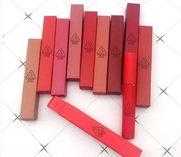 Batom impermeável 3ce on-line-10 Cores 3CE Matte Batom Quente de Longa Duração À Prova D 'Água 3CE Veludo Lip Tint Maquiagem Matte Batom Nudeis Lip Gloss com Marca